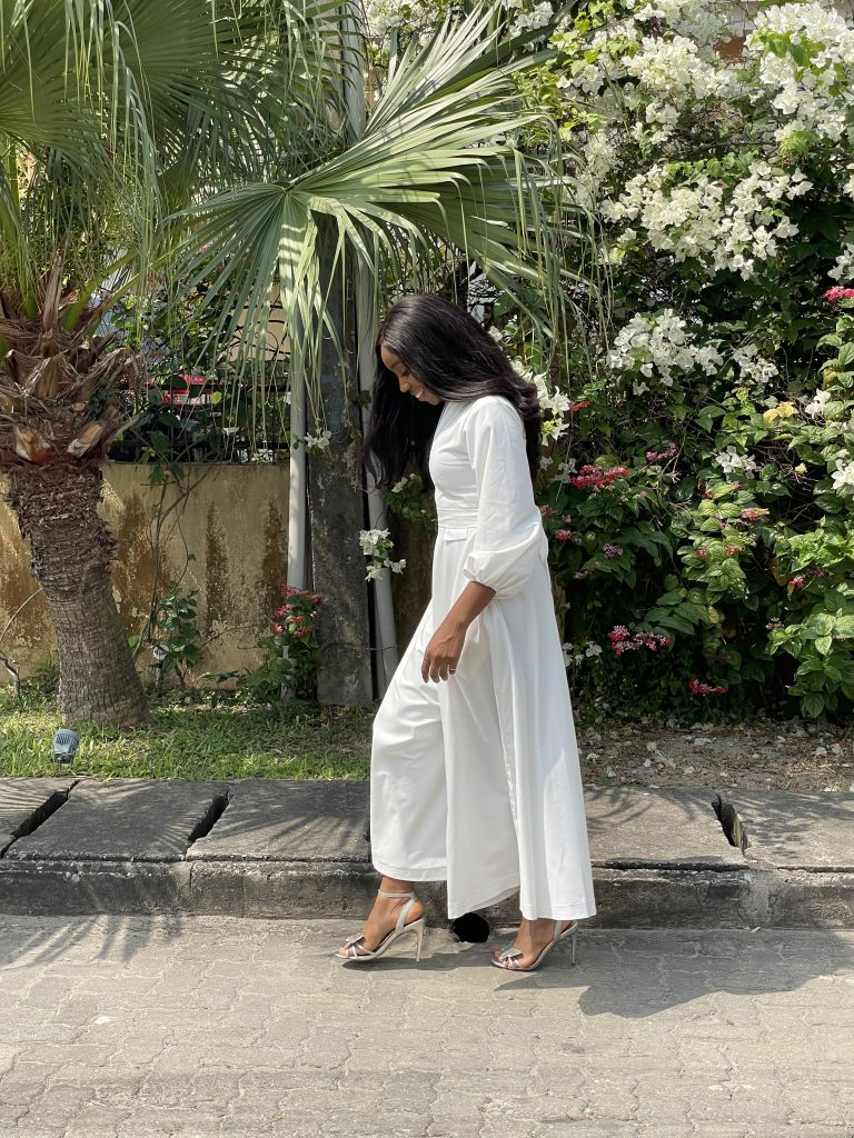 All white jumpsuit